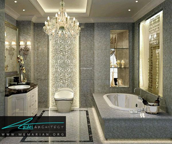 آینه در دکوراسیون حمام و سرویس بهداشتی