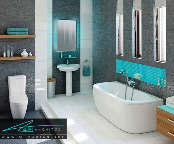 استفاده حداکثری از فضا در دکوراسیون حمام و سرویس بهداشتی