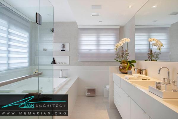 دسته گل در حمام از ترند های جدید برای دکوراسیون حمام های مدرن