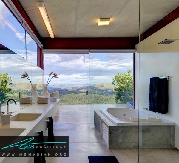حمام های رو به منظره از ترند های جدید برای دکوراسیون حمام های مدرن