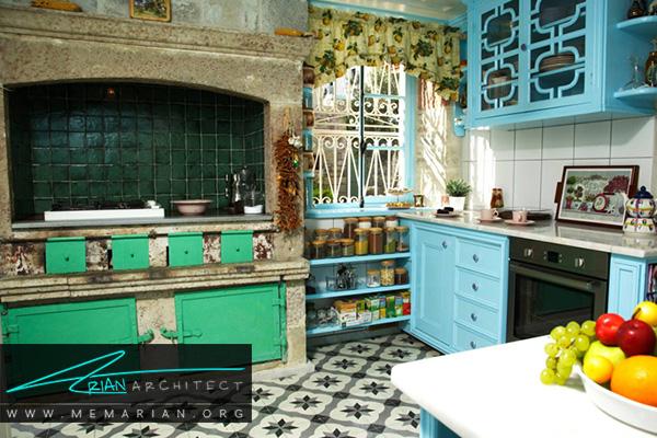 آشپزخانه های رنگارنگ به سبک مدیترانه ای