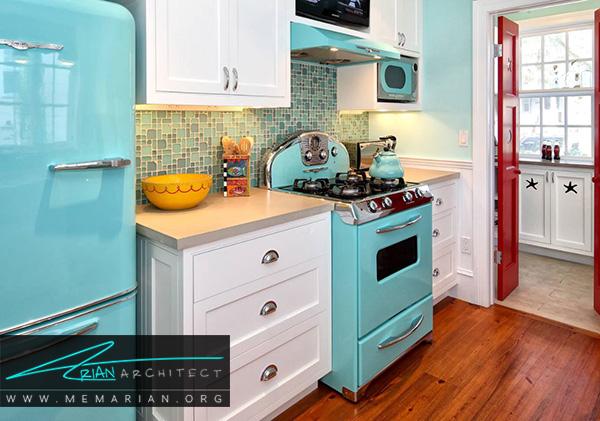 یخچال های رنگارنگ درآشپزخانه های رنگارنگ