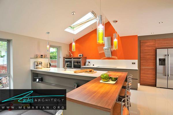 انرژی نارنجی درآشپزخانه های رنگارنگ