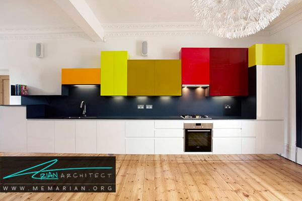 آشپزخانه های رنگارنگ با مدل رنگین کمان
