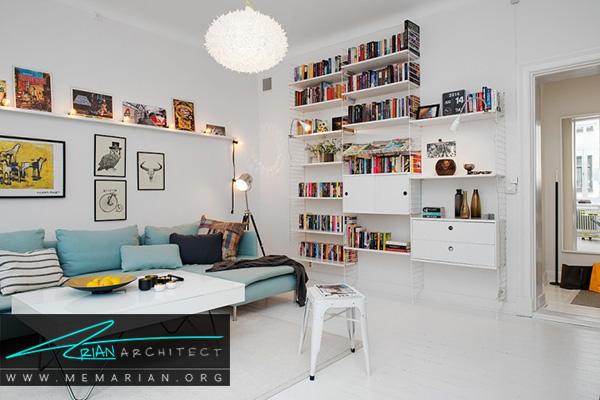 قفسه و شلف در دکوراسیون خانه های کوچک