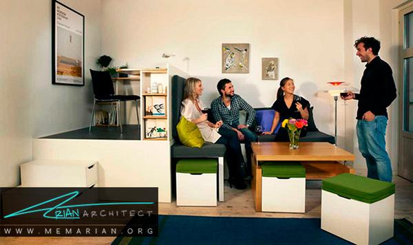 جداسازی فضاها در دکوراسیون خانه های کوچک