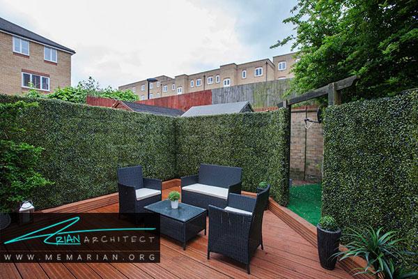 ستفاده از دیوار سبز یا پنل های گیاه مصنوعی در زیباسازی باغچه