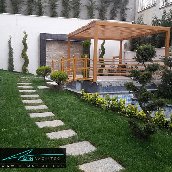 پیاده رو های خلاقانه برای زیباسازی باغچه و حیاط