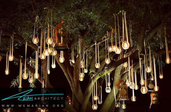 تزئین باغچه باانواع چراغ های باغچه و سیستم های روشنایی در فضاهای سبز