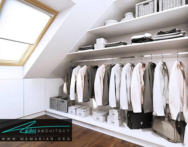 استفاده از فضاهای خالی و پرت خانه از ایده های کمد لباس