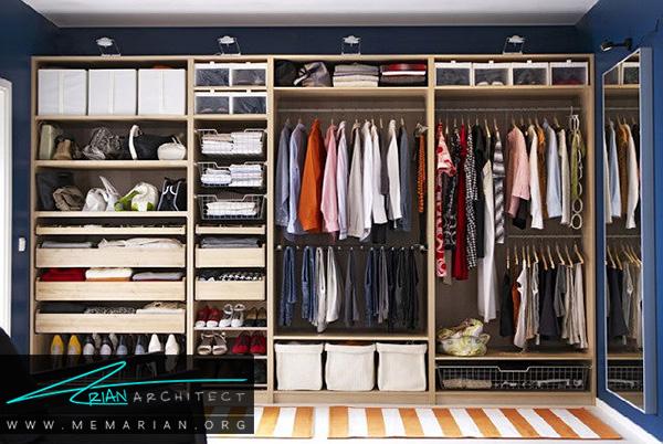 ایده های کمد لباس و فضاهای ذخیره سازی