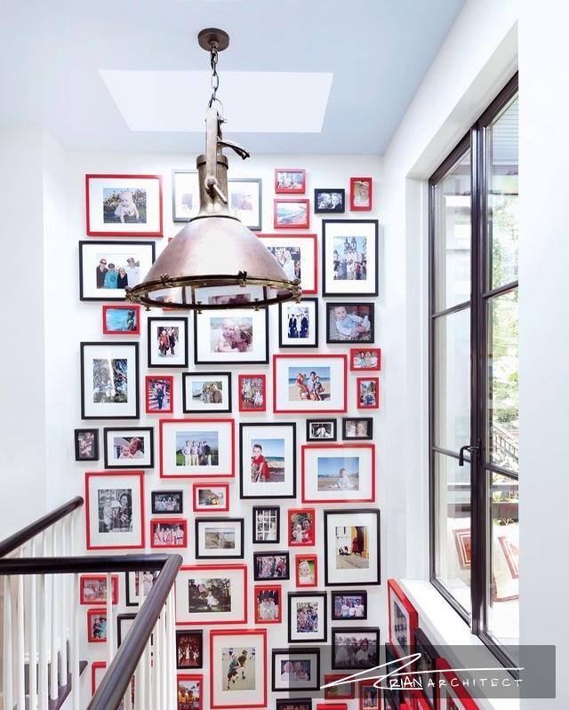 تابلوهای پرتعداد با قاب های قرمز - دکوراسیون تابلو