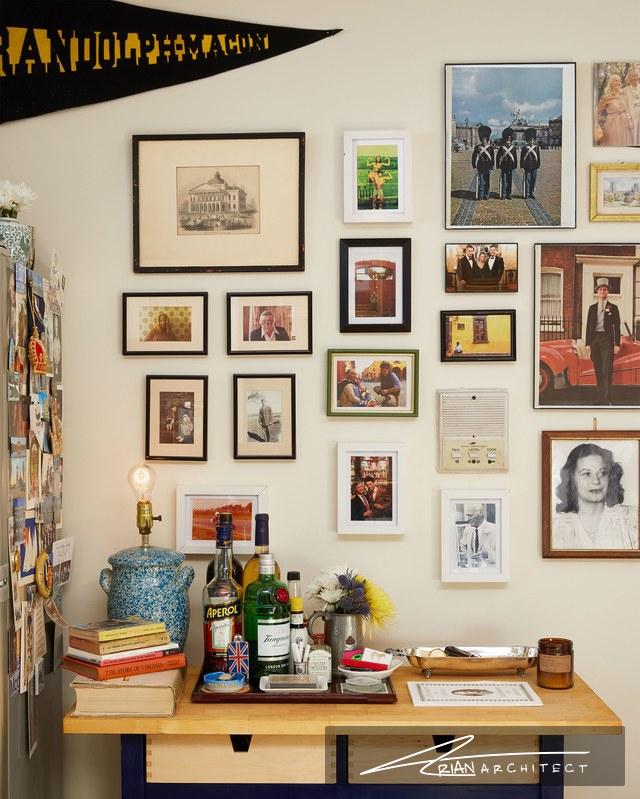 گالری تصاویر در آشپزخانه - دکوراسیون تابلو