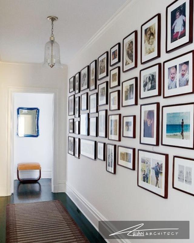 دیوار گالری تصاویر خانواده و دوستان - دکوراسیون تابلو