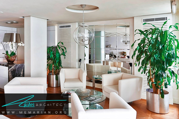 نشیمن زیبا در دکوراسیون آپارتمان ها کوچک