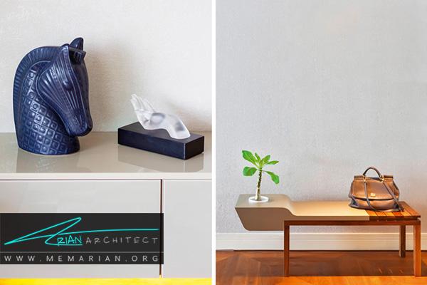 مصالح طبیعی در دکوراسیون آپارتمان ها کوچک