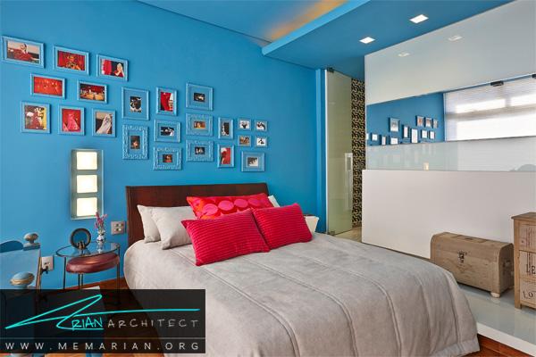 استفاده از رنگ های زنده در دکوراسیون آپارتمان ها کوچک