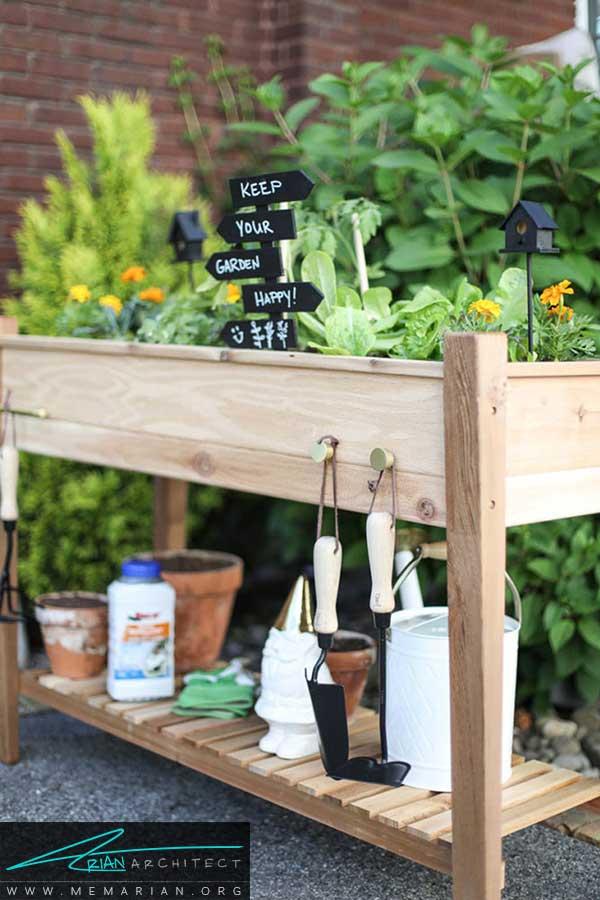 راهکارهای مدرن برای استفاده بهینه از فضای باغچه های کوچک