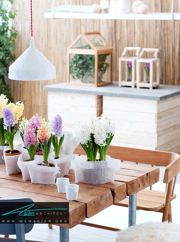 عناصر تزئینی و گل ها دردکوراسیون بهاری