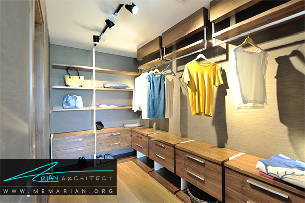 انتخاب رنگ دکوراسیون مناسب به کمک لباس های کمد