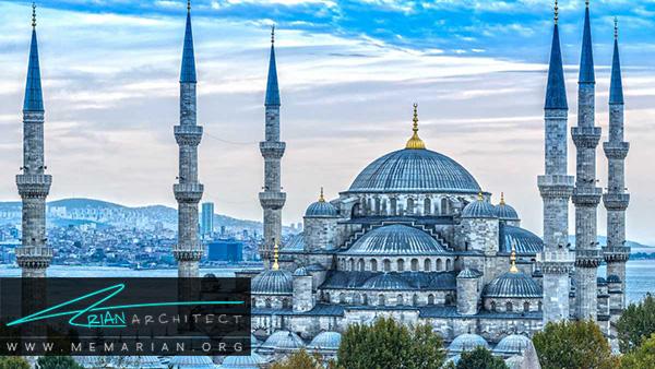 معماری مساجد ترکیه در مسجد آبی، کبود یا سلطان احمد