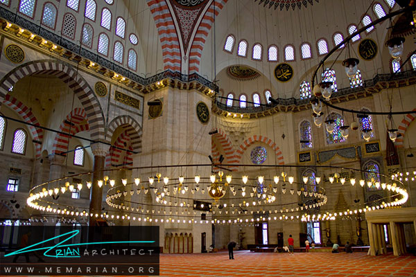 معماری مساجد ترکیه در مسجد سلیمانیه