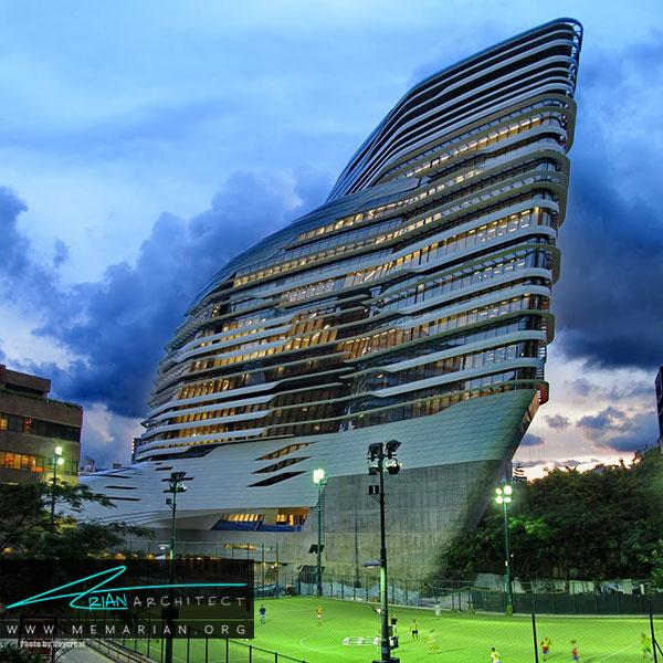 برج نوآوری دانشگاه پلی تکنيک هنگ کنگ از آثار زاها حدید