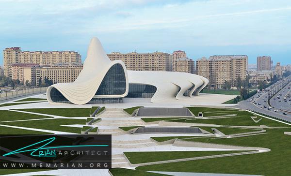 مرکز فرهنگی حیدرعلیف از آثار زاها حدید