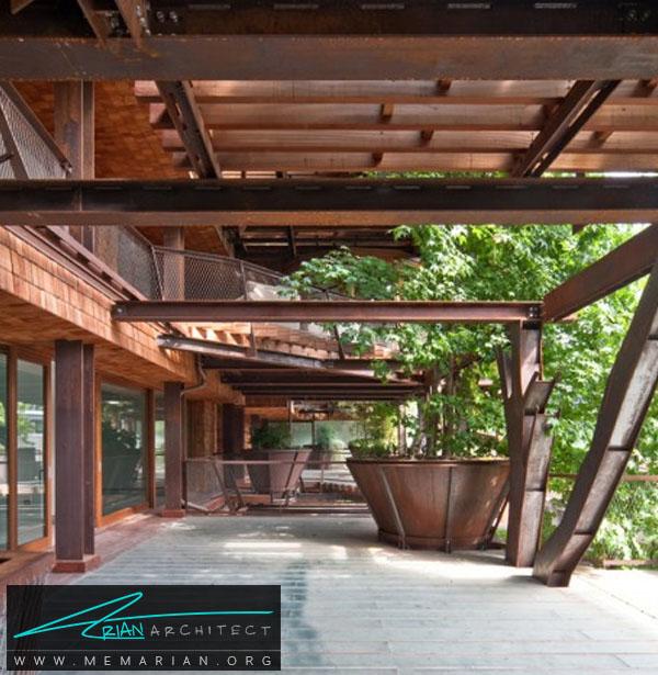 مجتمع آپارتمان های شهری توسط لوسیانو پیا - معماری بدون قطع درخت
