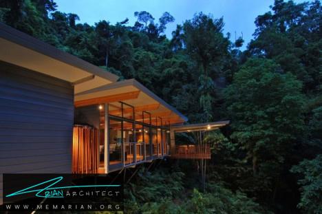 خانه درختی اچ پی توسط معماران ام ام پی - معماری بدون قطع درخت