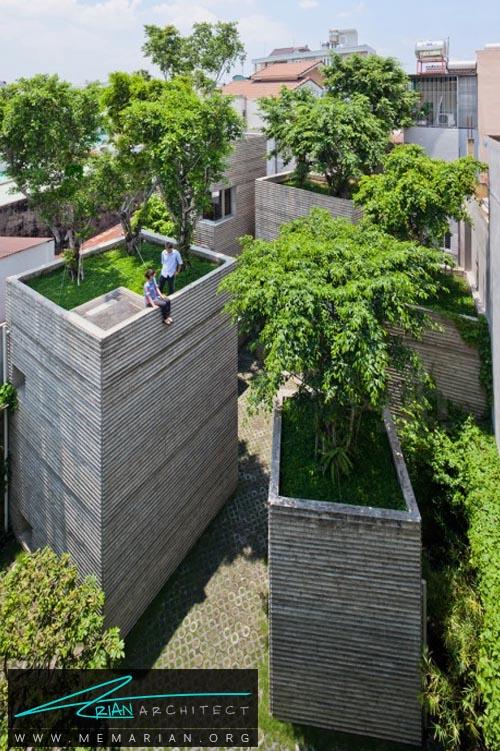 خانه ای برای درختان توسط Vo Trong Nghia - معماری بدون قطع درخت