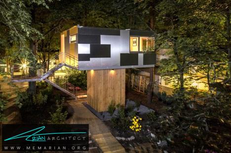 خانه درختی شهری توسط شرکت معماریBaumraum - معماری بدون قطع درخت