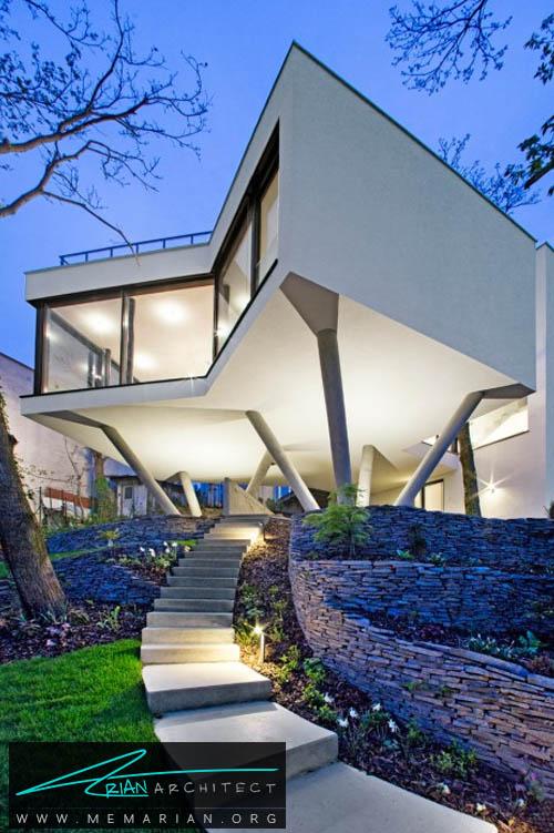 معماری خانه ای بین درختان توسط سبو لیچی - معماری بدون قطع درخت
