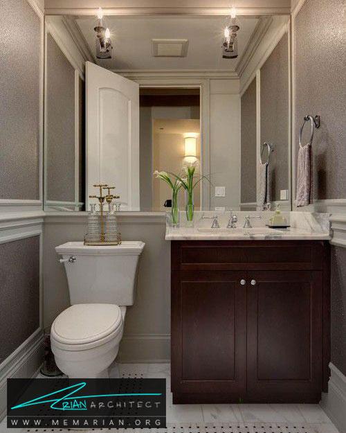 آینه های دیواری در حمام - 13 نمونه از زیباترین دکوراسیون آینه حمام
