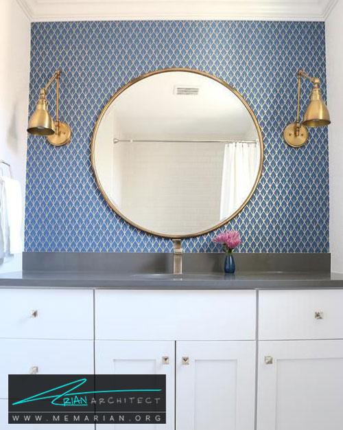 دکوراسیون حمام با آینه های شیک - 13 نمونه از زیباترین دکوراسیون حمام با آینه های بزرگ
