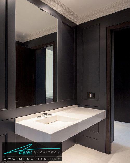 آینه ها در حمام های مدرن - 13 نمونه از زیباترین دکوراسیون آینه حمام