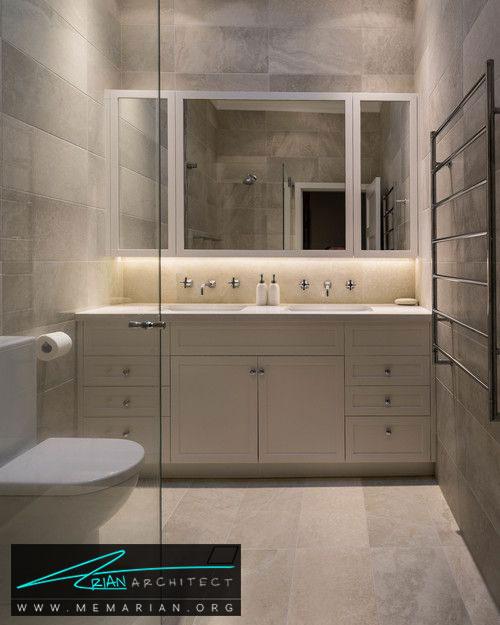 دکوراسیون حمام و نقش آینه ها - 13 نمونه از زیباترین دکوراسیون آینه حمام