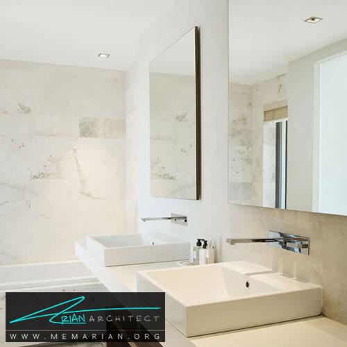 آینه در دکوراسیون حمام - 13 نمونه از زیباترین دکوراسیون حمام با آینه های بزرگ