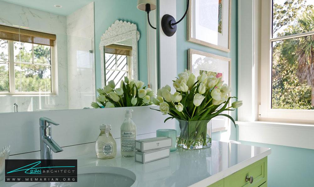 13 نمونه از زیباترین دکوراسیون آینه حمام