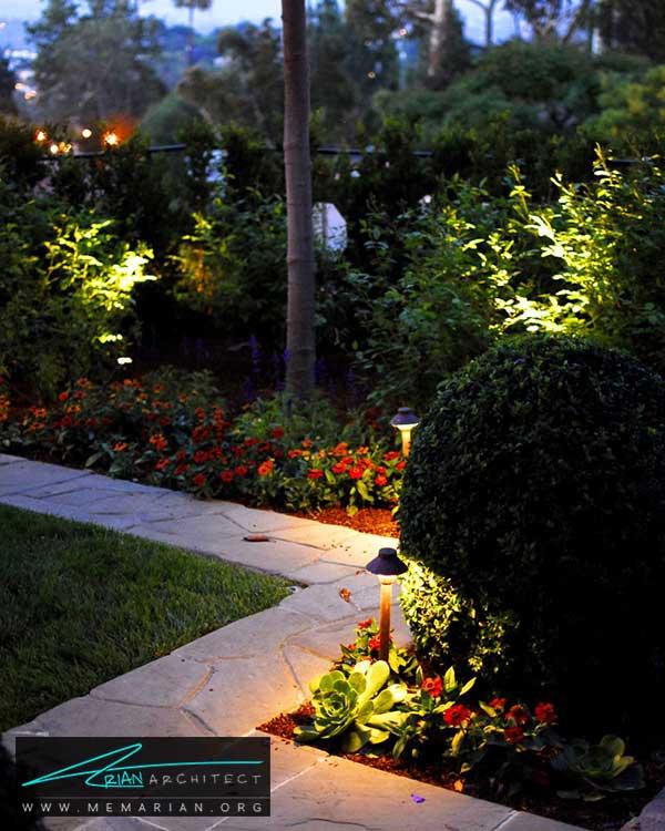 نورپردازی حیاط - ساده ترین ایده ها و راهکارهای زیباسازی حیاط منزل با پوشش گیاهی