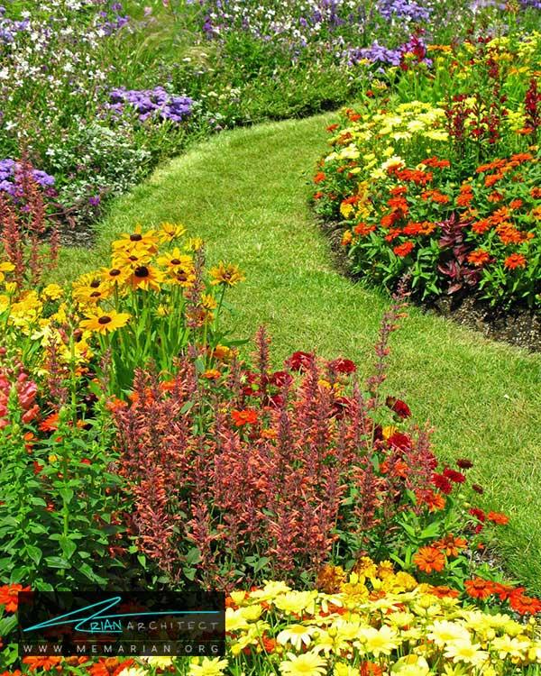 گروه بندی گل ها - ساده ترین ایده ها و راهکارهای زیباسازی حیاط منزل با پوشش گیاهی