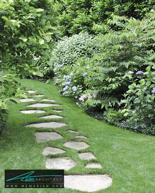 پیاده رو ها در حیاط خانه - ایده ها و راهکارهای زیباسازی حیاط منزل با پوشش گیاهی