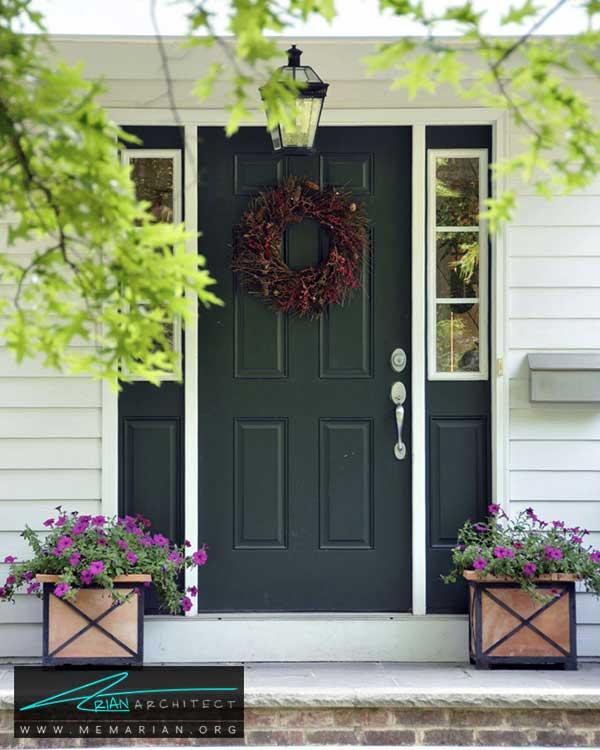 دکور جلوی درب ورودی - ایده ها و راهکارهای زیباسازی حیاط منزل با پوشش گیاهی