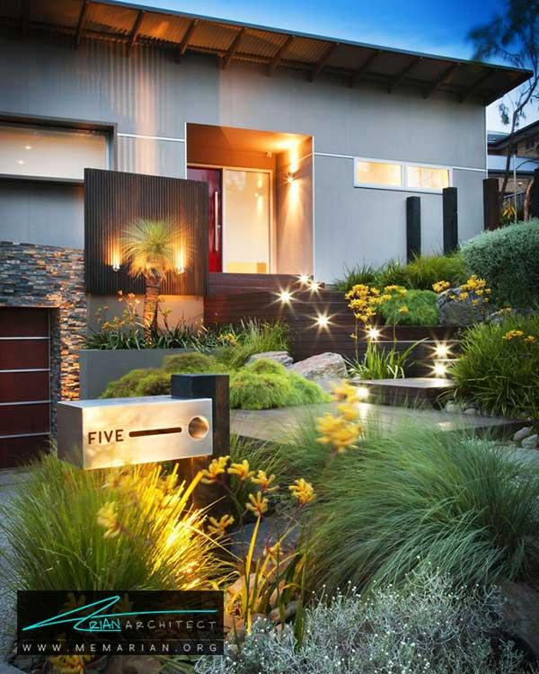 تعریف مسیر ورودی با گیاهان - ایده ها و راهکارهای زیباسازی حیاط منزل