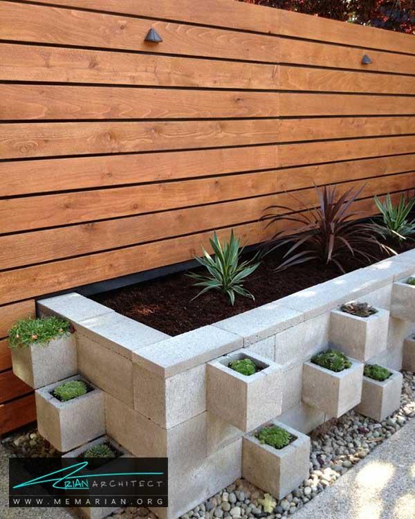 گلدان ها در حیاط خانه - ایده ها و راهکارهای زیباسازی حیاط منزل