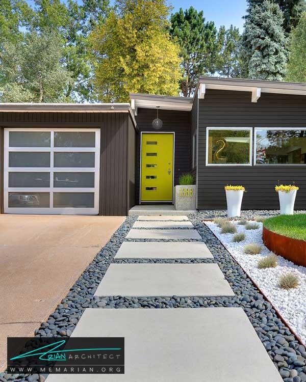 مسیر سنگ فرش در حیاط خانه - ایده ها و راهکارهای زیباسازی حیاط منزل