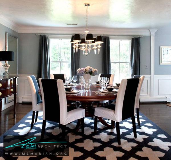 فرش در دکوراسیون اتاق غذاخوری - چگونه فرش مناسب خانه هایمان را انتخاب کنیم؟