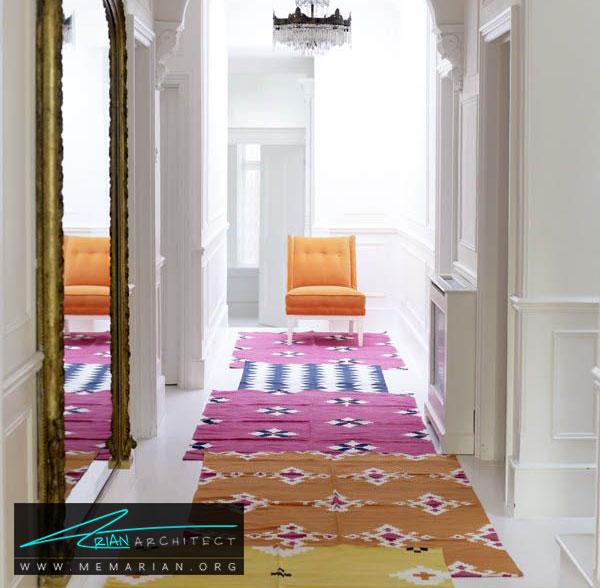 فرش در دکوراسیون راهروها - چگونه فرش مناسب خانه هایمان را انتخاب کنیم؟
