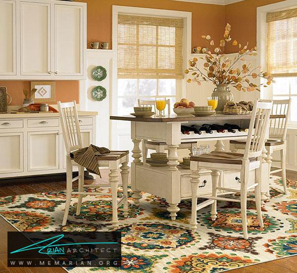 فرش در دکوراسیون آشپزخانه - چگونه فرش مناسب خانه هایمان را انتخاب کنیم؟