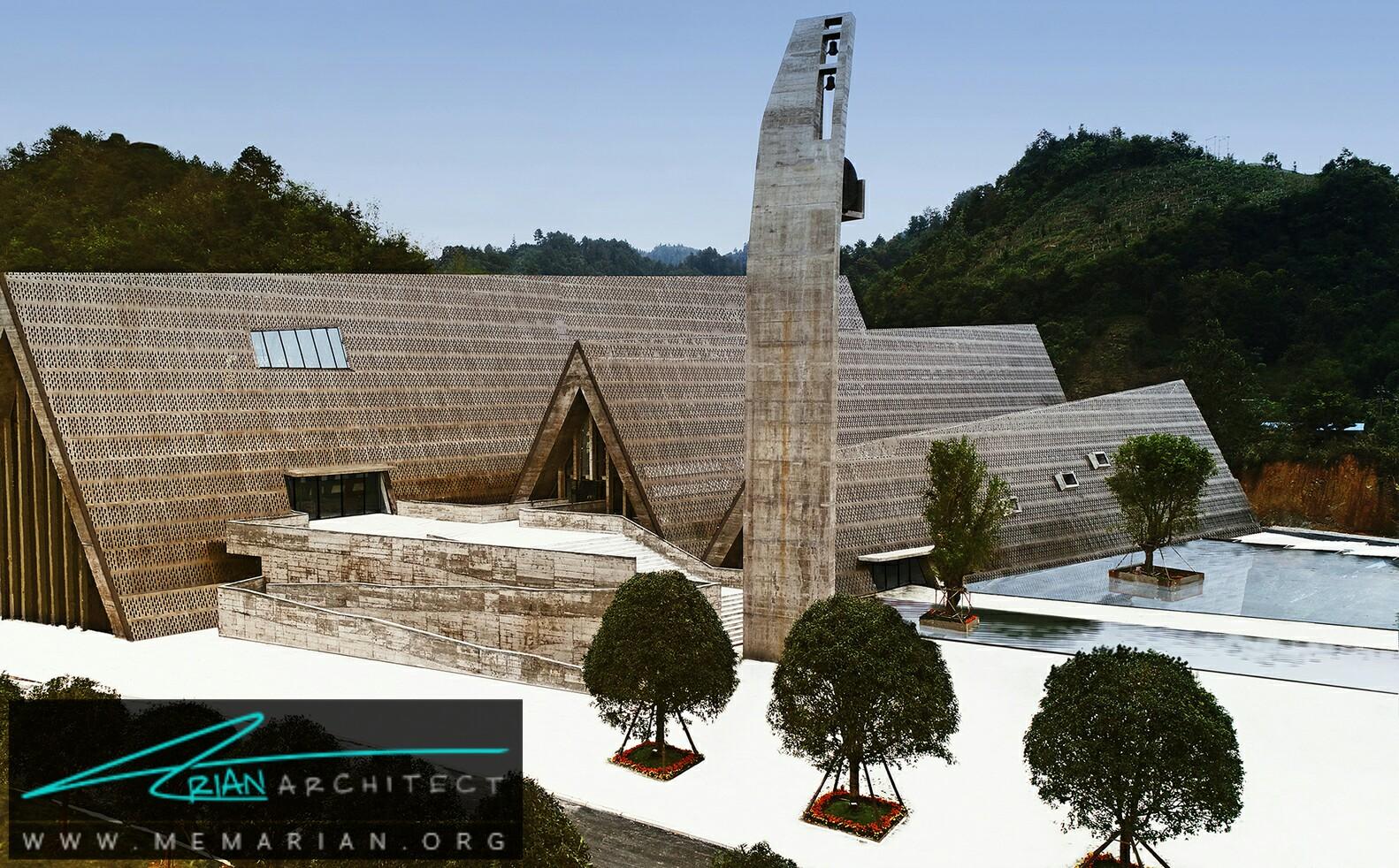شکل های شگفت انگیز و بافت های بی نظیر: معماری مرکز فرهنگی - سازه بتنی